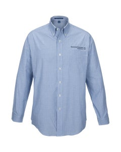 Navy Plaid Easy Care Shirt w/Berkshire Hathaway Embroidery