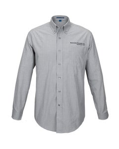 Charcoal Plaid Easy Care Shirt w/Berkshire Hathaway Embroidery