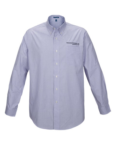 Purple Plaid Easy Care Shirt w/Berkshire Hathaway Embroidery