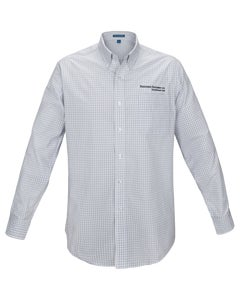 White Plaid Easy Care Shirt w/Berkshire Hathaway Embroidery