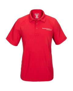 Red Vertx Short Sleeve Polo w/ Berkshire Hathway Embroidery