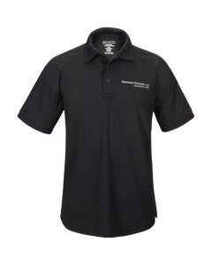 Black Vertx Short Sleeve Polo w/Berkshire Hathway Embroidery