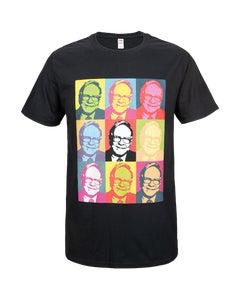 """Black T-Shirt w/ """"Warhol Warren"""" Screenprint"""