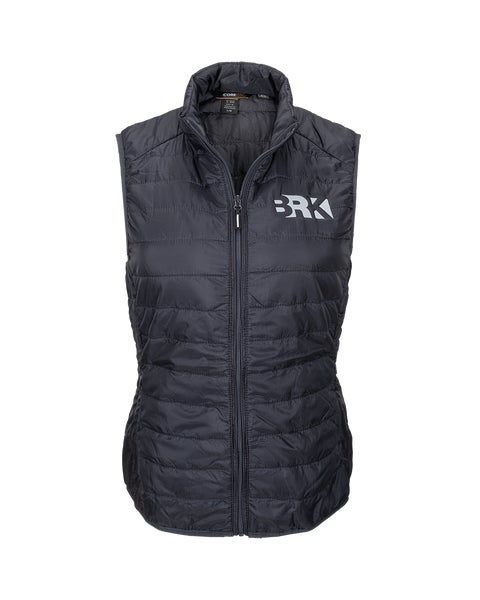 Carbon Ladies Packable Puffer Vest w/Berkshire Hathaway Embroidery