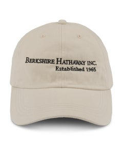 TAN HAT W/ BERKSHIRE HATHAWAY EMBROIDERY TAN