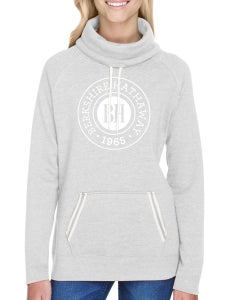 Ash Heather Ladies Relay Cowl Neck w/ BH Crest Silkscreen